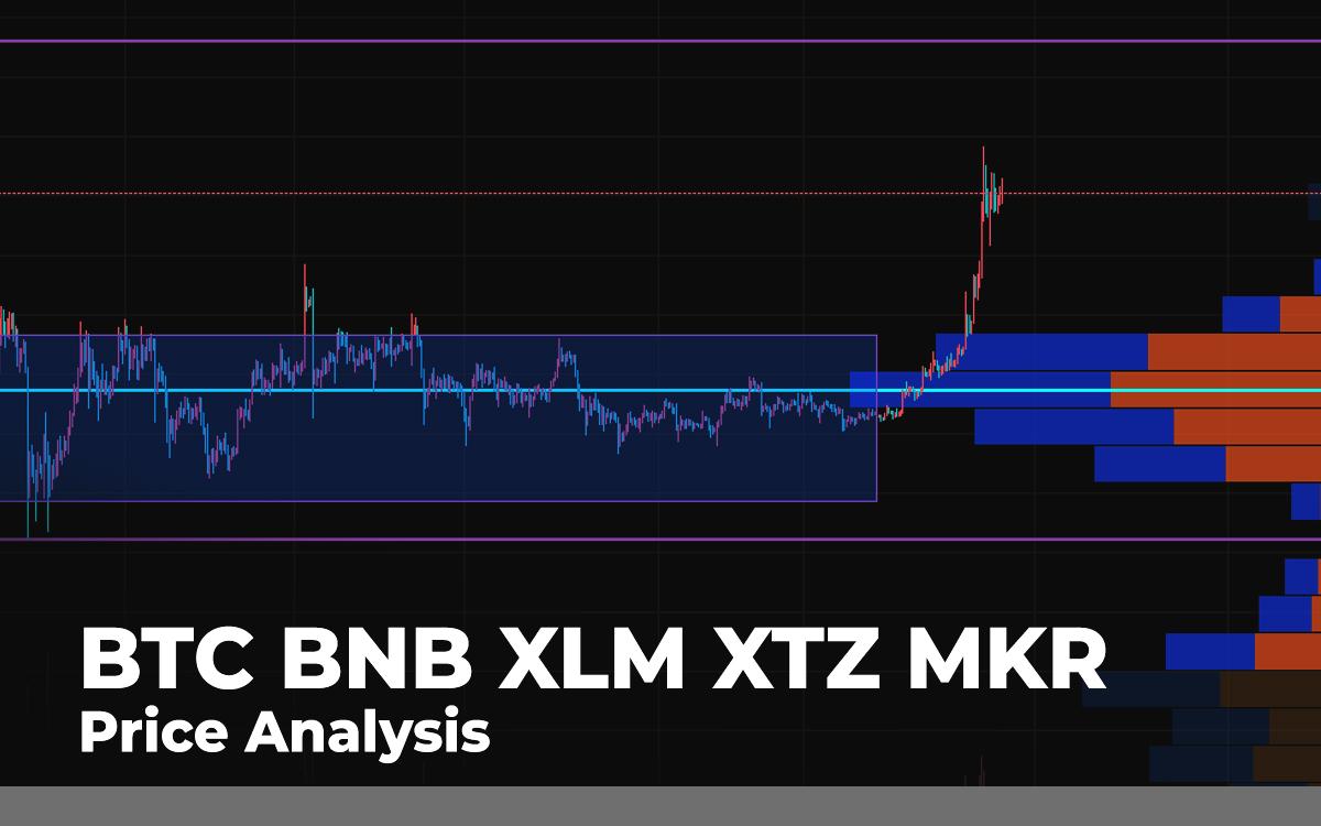 BTC, BNB, <bold>XLM</bold>, XTZ, MKR Price <bold>Analysis</bold> for July 29