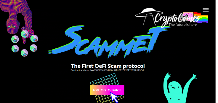 Scammet protocol offers DOGE-DOT perpetual swaps
