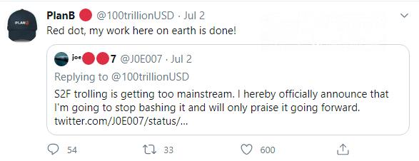 Joe007 starts supporting Bitcoin (BTC) S2F