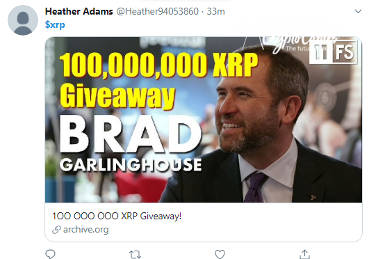 XRP scammers target Internet Archive