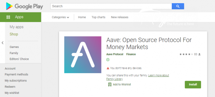 Aave Protocol (AAVE) fake app disclosed in Google Play