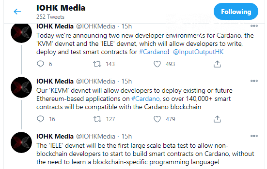 KEVM testnet will facilitate the adoption of Ethereum-based applications on Cardano blockchain