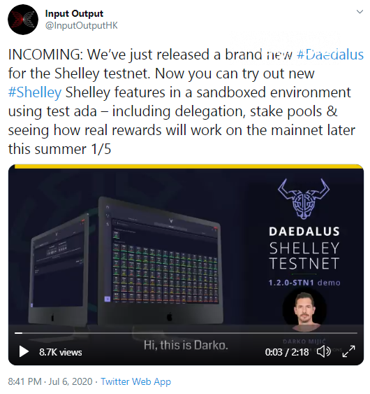 Cardano (ADA) releases new Daedalus Wallet