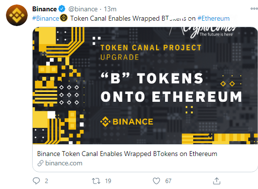 Binance introduces Token Channel for BTokens