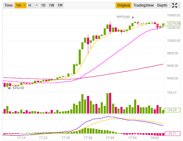 Bitcoin's 1M chart