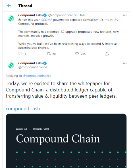 Compound is going to release its own blockchain