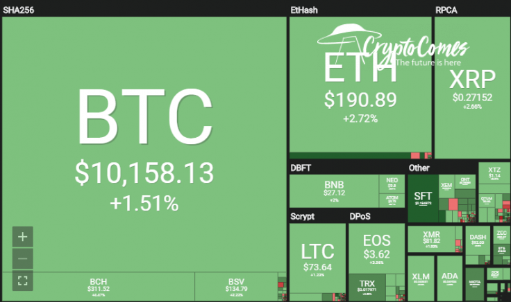 The crypto market is in the green