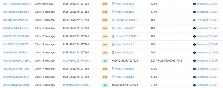 KuCoin hackers are selling COMP on Kyber Network