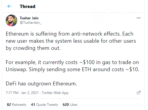 Ethereum (ETH) network congested