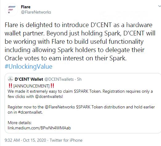 Flare (SPARK) teases yield farming on D'Cent