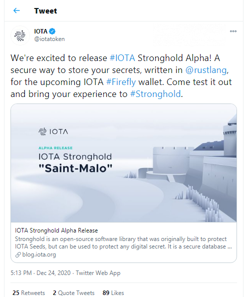 IOTA introduces Stronghold