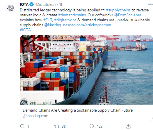 IOTA's Dominik Schiener introduces new approach to supply chain solutions