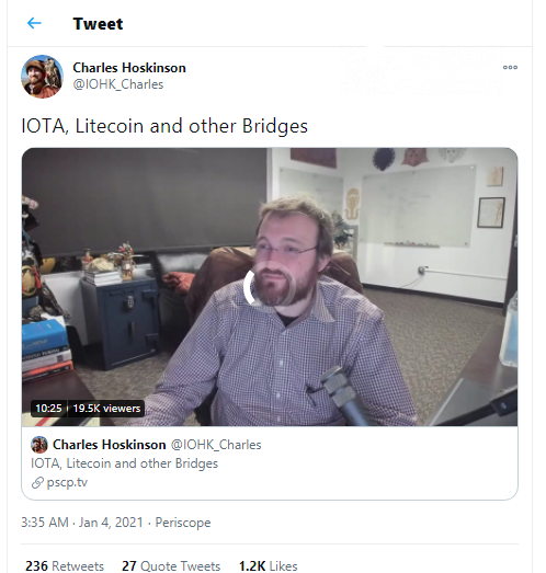Charles Hoskinson on IOTA and Litecoin