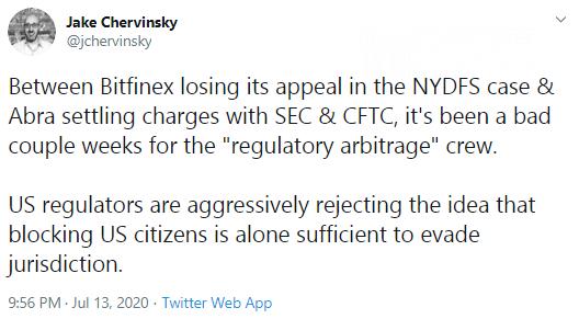 Jake Chervinsky accused the U.S. authorities in false understanding of processes in crypto segment