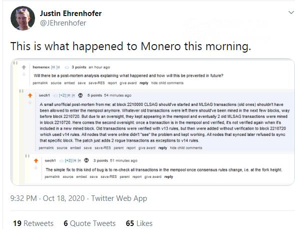 Two Monero (XMR) transactions demaged synchronization process