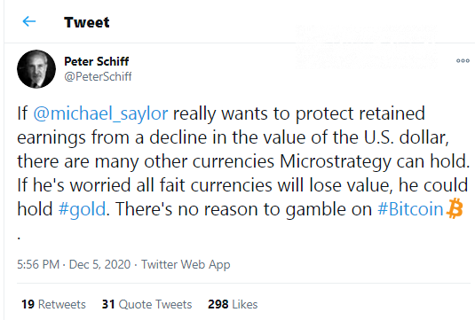 Peter Schiff brings investment strategy for Michael Saylor