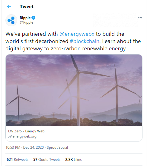 Ripple partners with Energy Web