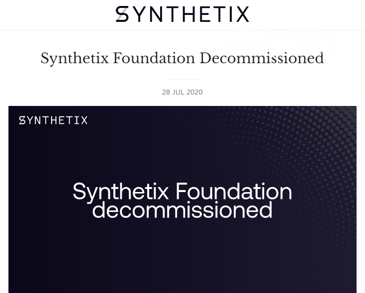 Synthetix Decommisionned