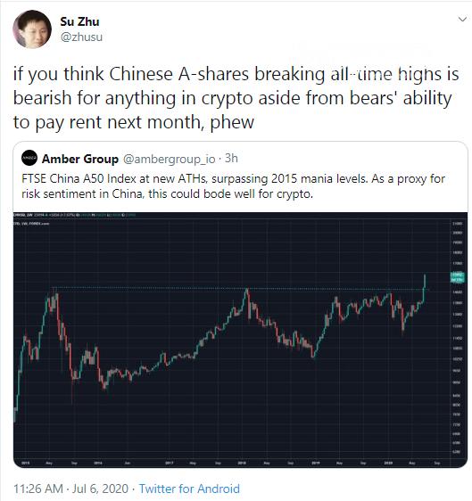 Zhu Su mocks sceptics as Chinese stocks are rallying