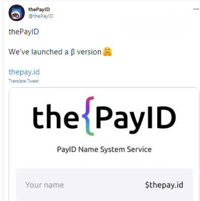 thePayID service launched names system