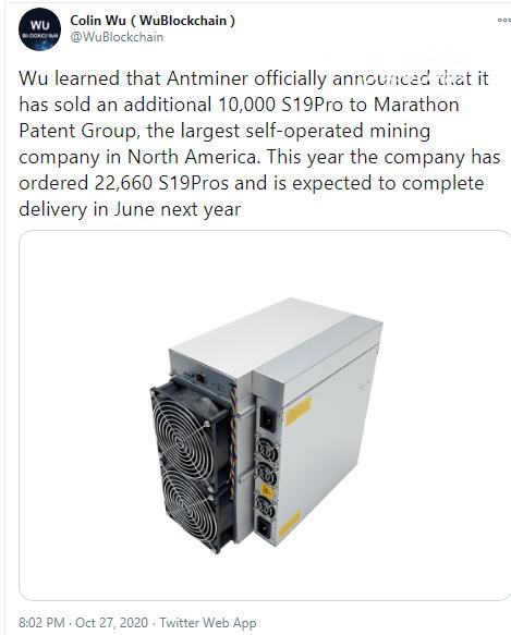 Marathon (MARA) purchases 10,000 ASICs