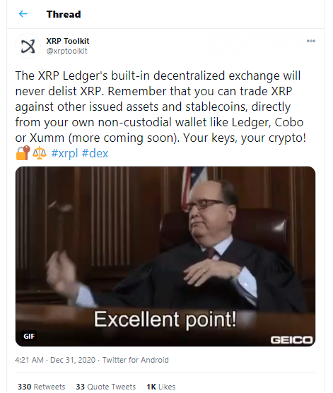 XRP Toolkit will continue XRP trading