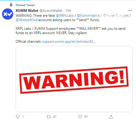 XRPL Labs warns its users about increased scam activity